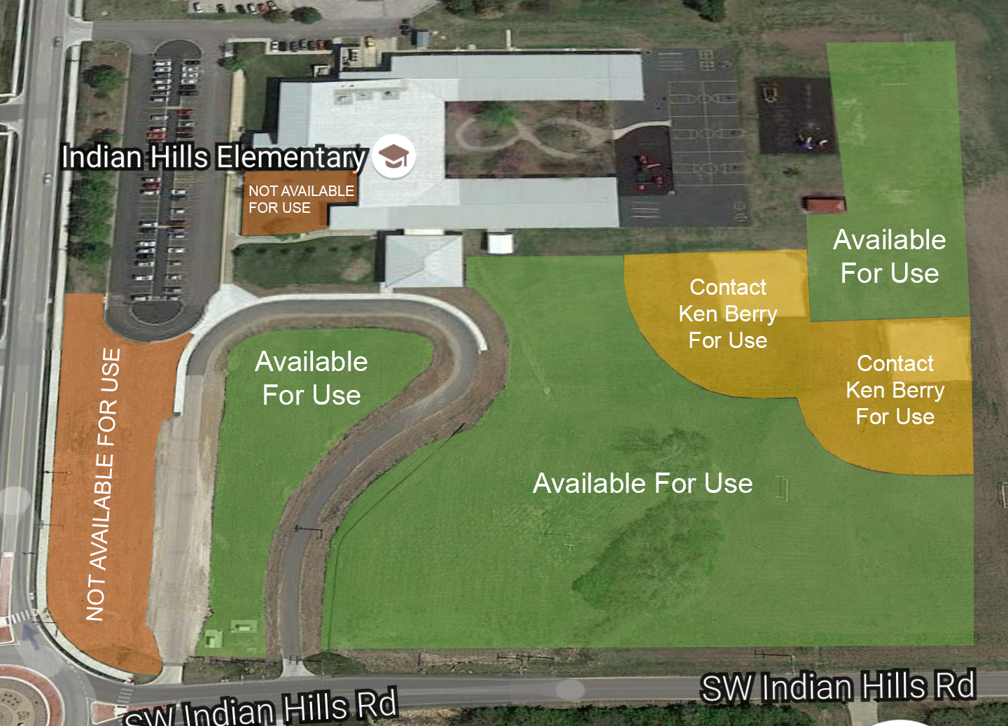 Indian Hills Facility Map