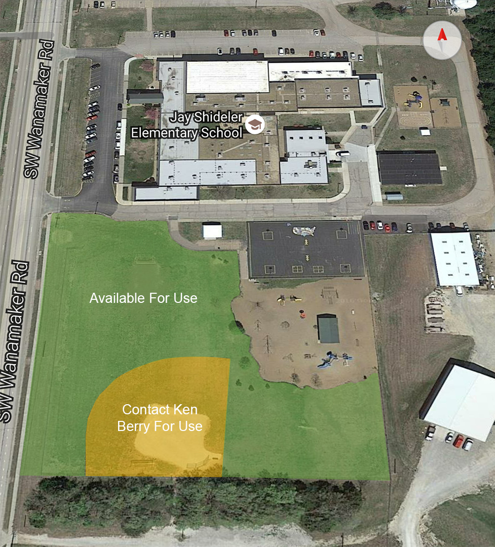 Jay Shideler Facility Map