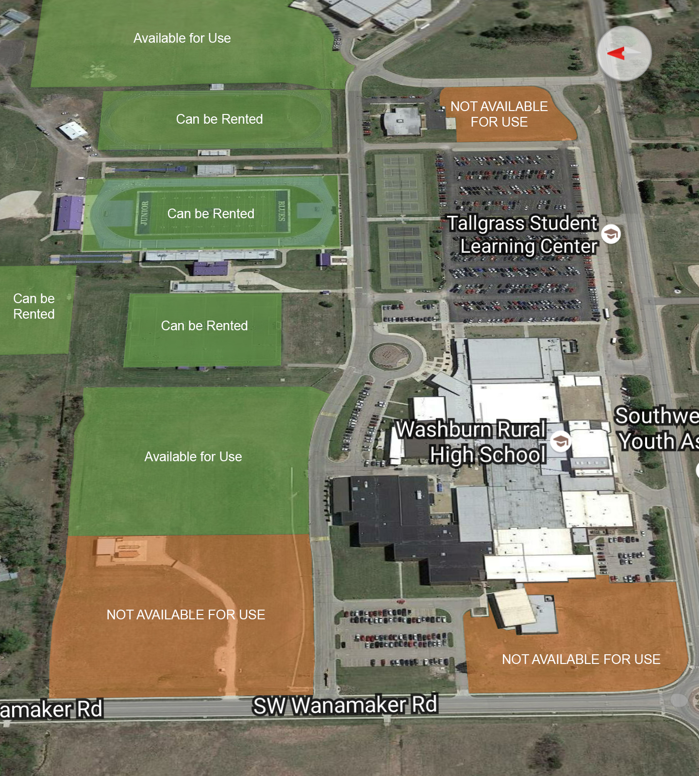 High School Facility Map