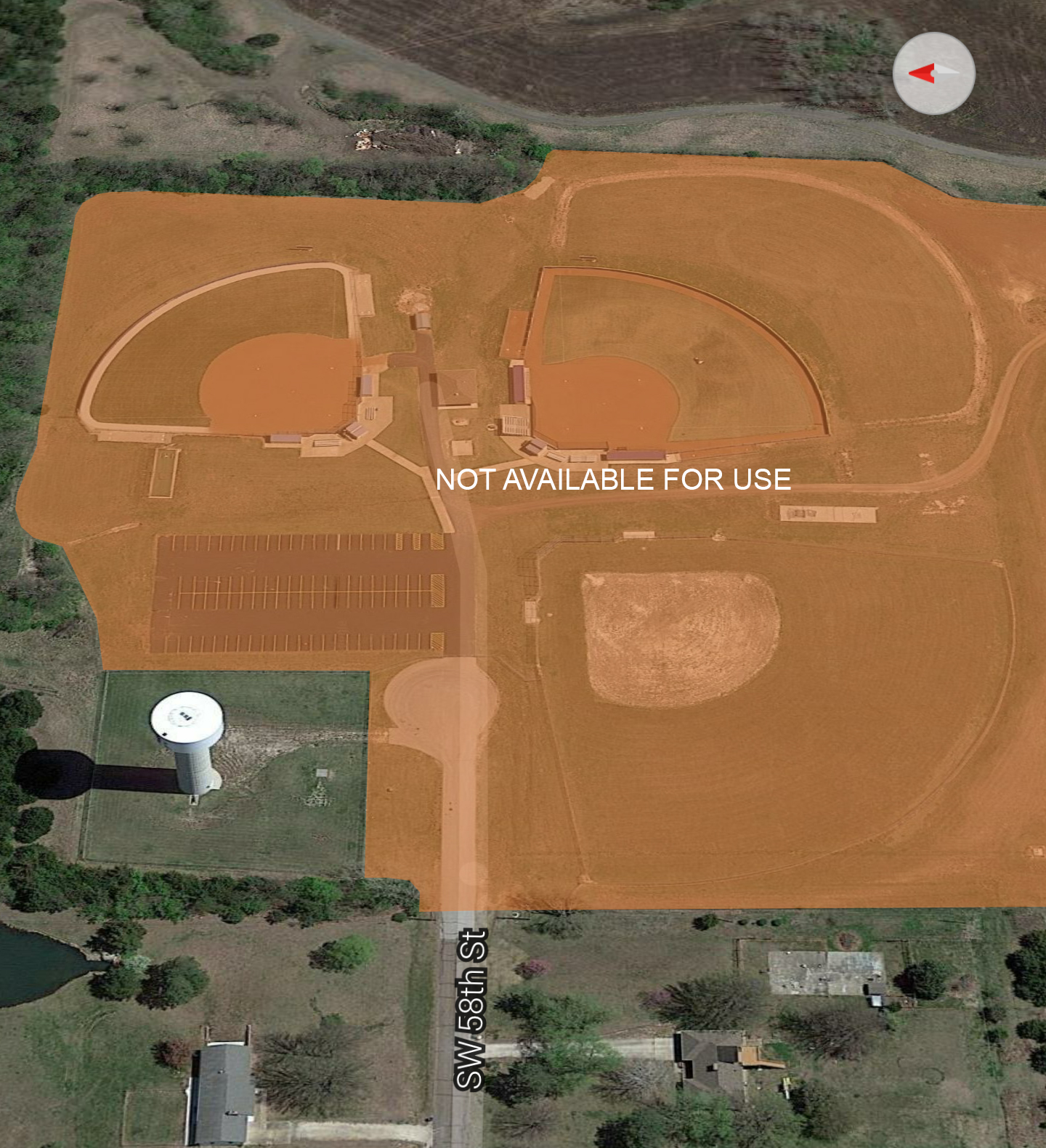High School Softball Facility Map