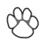 Auburn Elementary logo - mascot only (grayscale)
