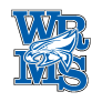 Washburn Rural Middle School logo - letter and mascot (color)