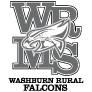 Washburn Rural Middle School logo (grayscale)