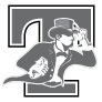 Tallgrass Student Learning Center logo - letter and mascot (grayscale)
